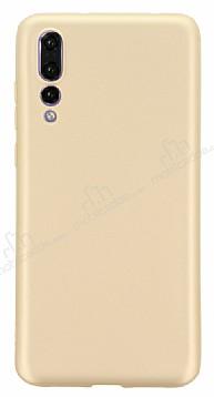 Huawei P20 Pro Mat Gold Silikon Kılıf