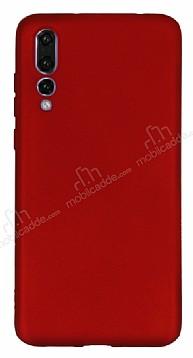 Huawei P20 Pro Mat Kırmızı Silikon Kılıf