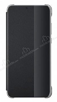 Huawei P20 Pro Uyku Modlu İnce Yan Kapaklı Siyah Kılıf