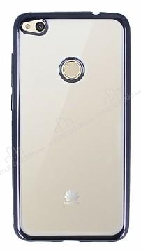 Huawei P9 Lite 2017 Siyah Kenarlı Şeffaf Silikon Kılıf