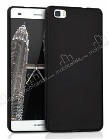 Huawei P8 Lite Tam Kenar Koruma Siyah Rubber Kılıf