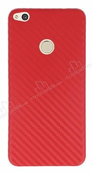 Huawei P8 Lite Ultra İnce Karbon Kırmızı Kılıf