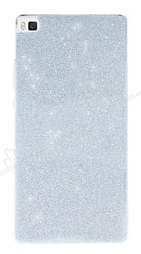 Huawei P8 Simli Silver Silikon Kılıf