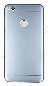 Huawei P9 Lite 2017 Silikon Kenarlı Silver Metal Kılıf
