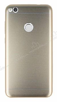 Huawei P9 Lite 2017 Silikon Kenarlı Gold Metal Kılıf