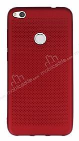 Huawei P9 Lite 2017 Noktalı Mat Kırmızı Silikon Kılıf