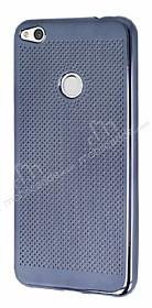 Huawei P9 Lite 2017 Noktalı Metalik Dark Silver Silikon Kılıf