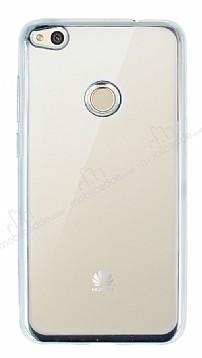 Huawei P9 Lite 2017 Silver Kenarlı Şeffaf Silikon Kılıf