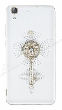 Huawei Y6 ii Taşlı Anahtar Şeffaf Silikon Kılıf