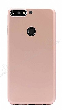 Huawei Y7 2018 Tam Kenar Koruma Gold Rubber Kılıf