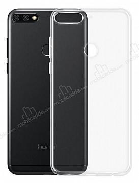Huawei Y7 2018 Ultra İnce Şeffaf Silikon Kılıf