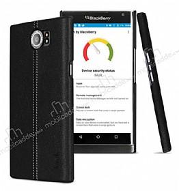 IMAK BlackBerry Priv Siyah Lux Deri Kılıf