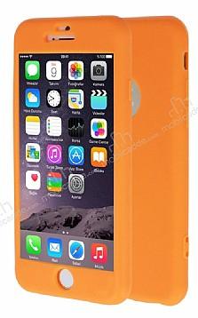 iPhone 6 / 6S 360 Derece Koruma Likit Turuncu Silikon Kılıf