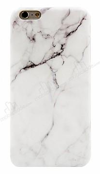 iPhone 6 / 6S Granit Görünümlü Beyaz Silikon Kılıf