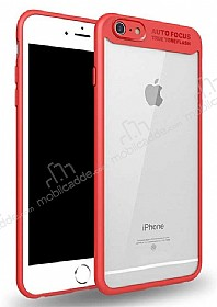 Eiroo Cam Hybrid iPhone 6 / 6S Kamera Korumalı Kırmızı Kenarlı Rubber Kılıf
