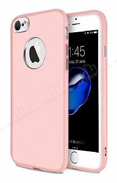iPhone 6 / 6S Metal Kamera Korumalı Rose Gold Silikon Kılıf
