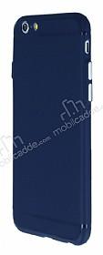 iPhone 6 / 6S Metal Tuşlu Mat Lacivert Silikon Kılıf