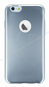 iPhone 6 / 6S Metalik Silver Silikon K�l�f