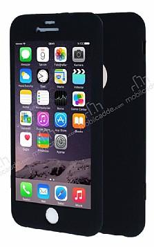 iPhone 6 Plus / 6S Plus 360 Derece Koruma Likit Siyah Silikon Kılıf