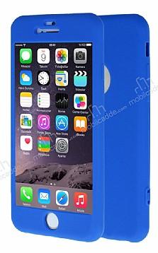 iPhone 6 Plus / 6S Plus 360 Derece Koruma Likit Mavi Silikon Kılıf
