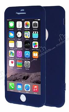 iPhone 6 Plus / 6S Plus 360 Derece Koruma Likit Lacivert Silikon Kılıf