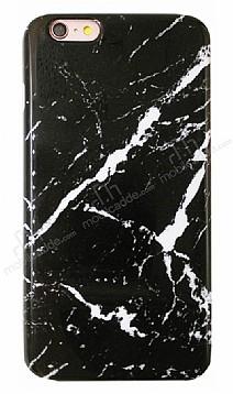 iPhone 6 Plus / 6S Plus Granit Görünümlü Siyah Silikon Kılıf