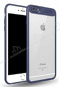 Eiroo Cam Hybrid iPhone 6 Plus / 6S Plus Kamera Korumalı Lacivert Kenarlı Rubber Kılıf