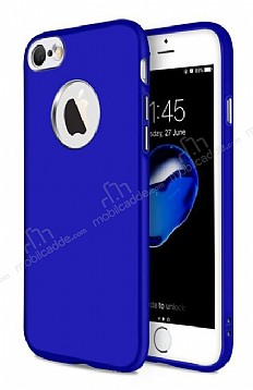 iPhone 6 Plus / 6S Plus Metal Kamera Korumalı Lacivert Silikon Kılıf