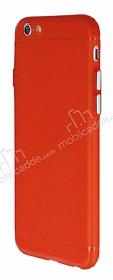 iPhone 6 Plus / 6S Plus Metal Tuşlu Mat Kırmızı Silikon Kılıf