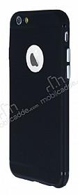 iPhone 6 Plus / 6S Plus Metal Tuşlu Mat Siyah Silikon Kılıf