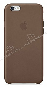 iPhone 6 Plus / 6S Plus Orjinal Kahverengi Deri Kılıf