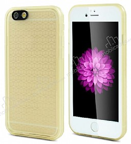 iPhone 6 Plus / 6S Plus Su Ge�irmez �effaf Gold K�l�f