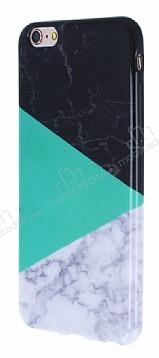 iPhone 6 Plus / 6S Plus Granit Görünümlü Yeşil Silikon Kılıf