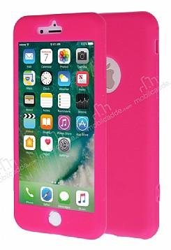 iPhone 7 360 Derece Koruma Likit Pembe Silikon Kılıf