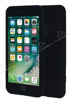 iPhone 7 360 Derece Koruma Likit Siyah Silikon Kılıf