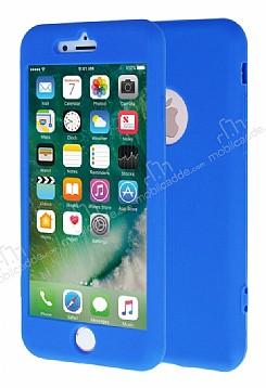 iPhone 7 360 Derece Koruma Likit Mavi Silikon Kılıf