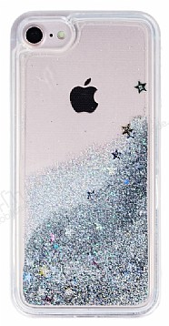 iPhone 7 / 8 Sulu Silver Rubber Kılıf