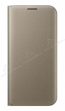 iPhone 7 / 8 Cüzdanlı Yan Kapaklı Gold Deri Kılıf