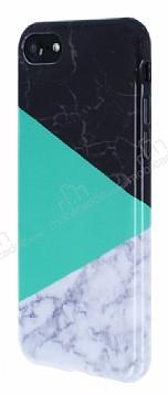 iPhone 7 / 8 Granit Görünümlü Yeşil Silikon Kılıf