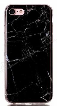 iPhone 7 Granit Görünümlü Siyah Silikon Kılıf