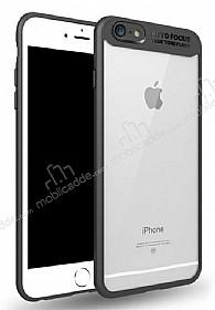 Eiroo Cam Hybrid iPhone 7 / 8 Kamera Korumalı Siyah Kenarlı Rubber Kılıf