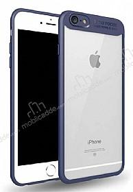 Eiroo Cam Hybrid iPhone 7 / 8 Kamera Korumalı Lacivert Kenarlı Rubber Kılıf