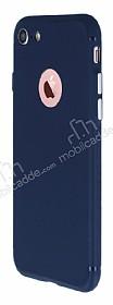iPhone 7 Metal Tuşlu Mat Lacivert Silikon Kılıf