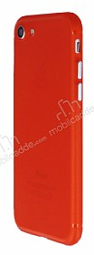 iPhone 7 / 8 Metal Tuşlu Mat Kırmızı Silikon Kılıf