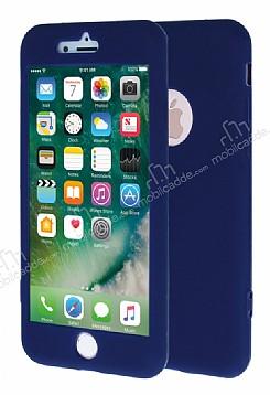 iPhone 7 Plus 360 Derece Koruma Likit Lacivert Silikon Kılıf