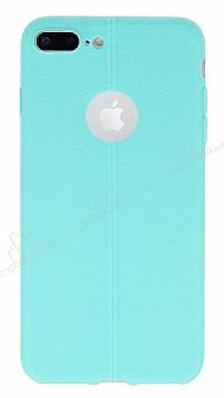 iPhone 7 Plus Deri Desenli Ultra İnce Yeşil Silikon Kılıf