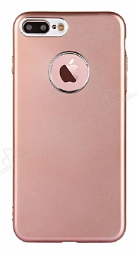 iPhone 7 Plus Kamera Korumalı Rose Gold Silikon Kılıf