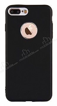 iPhone 7 Plus Kamera Korumalı Siyah Silikon Kılıf