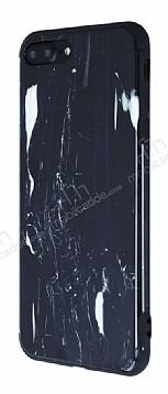 iPhone 7 Plus / 8 Plus Parlak Granit Görünümlü Siyah Silikon Kılıf