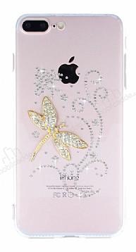 iPhone 7 Plus / 8 Plus Taşlı Yusufçuk Şeffaf Silikon Kılıf